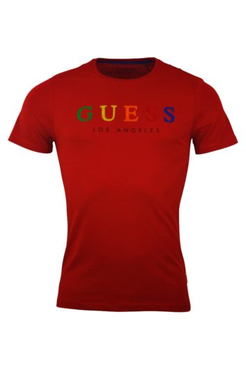 Guess - Colourful T-Shirt - Red