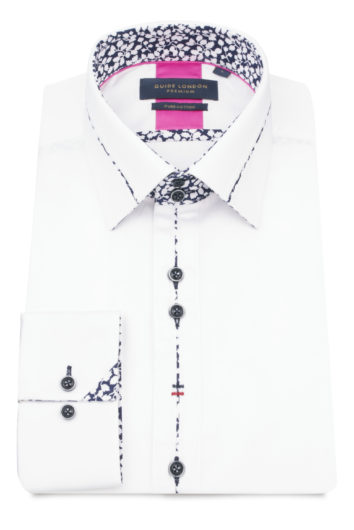 Guide London = Longsleeve Shirt 75036 - White