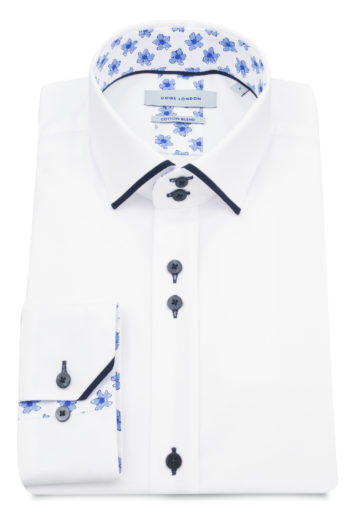 Guide London - Long Sleeve Shirt 75065 - White/Blue