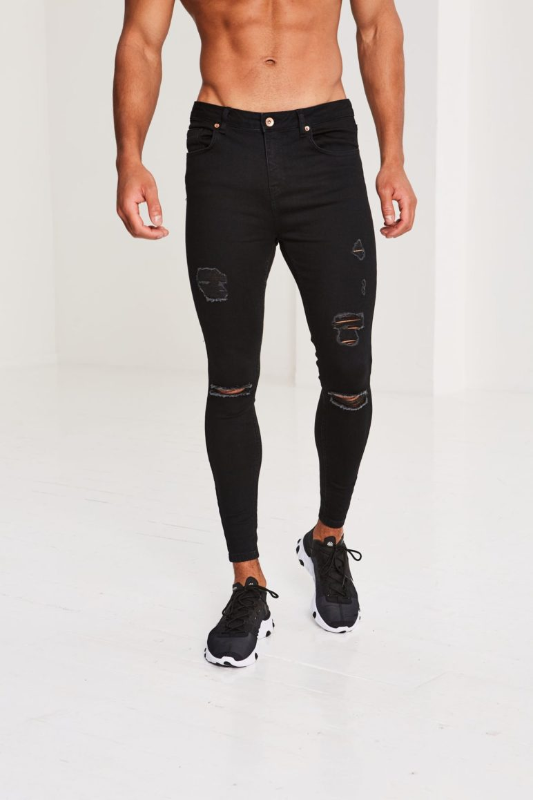 Pré London - Ripped and Repaired Jeans - Black
