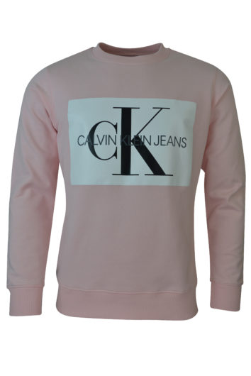 Calvin Klein - Mono Box Logo Sweatshirt - Strawberry