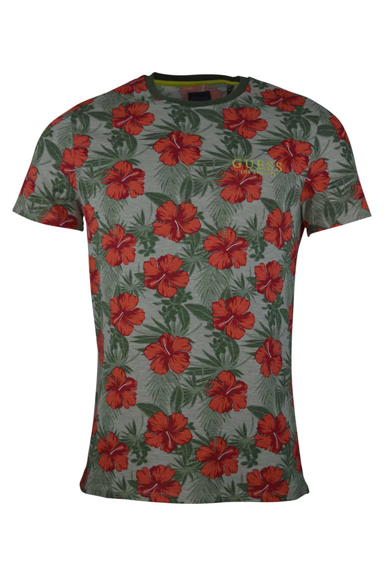 Guess – Barnaby Floral T-Shirt – Green