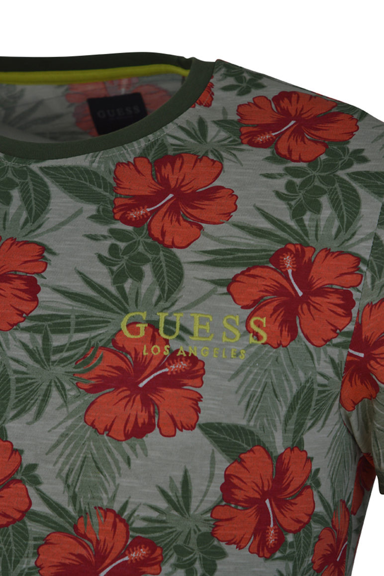 Guess - Barnaby Floral T-Shirt - Green
