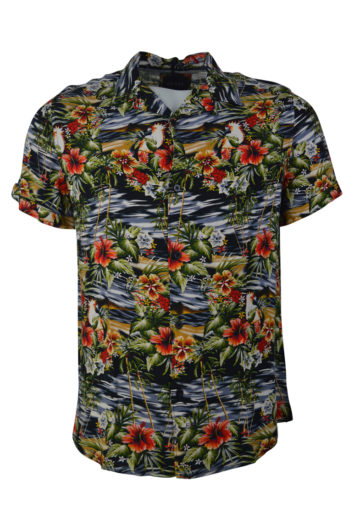 Guess - Hawaian Shirt - Black