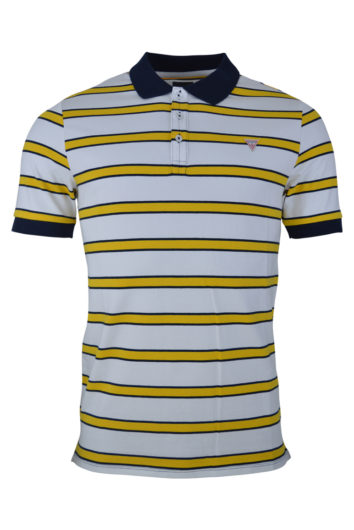 Guess - Ray Striped Polo - White