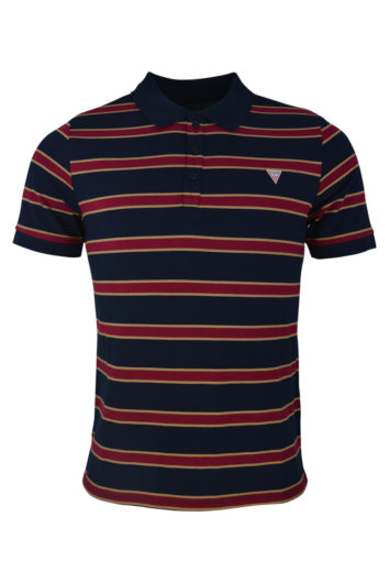 Guess - Ray Striped Polo - Navy
