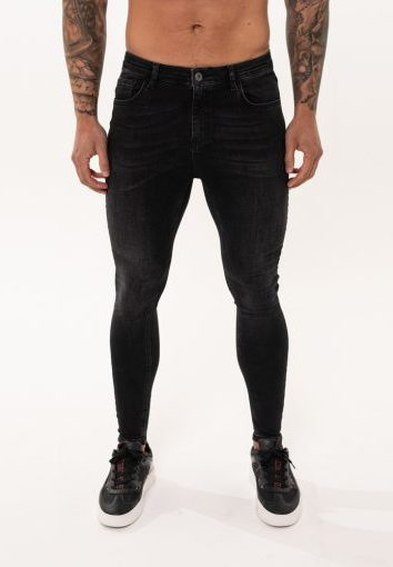 Nimes - Non Ripped Jeans - Black Wash