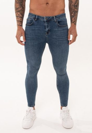 Nimes - Non Ripped Jeans - Dark Blue