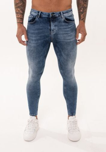 Nimes - Non Ripped Jeans - Light Blue