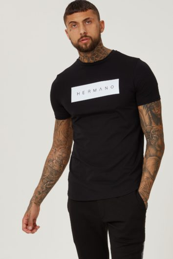Hermano - Box Logo T-Shirt - Black