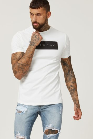 Hermano - Box Logo T-Shirt - White