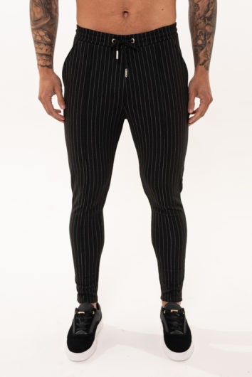 Nimes - Pinstripe Knit Chino - Black