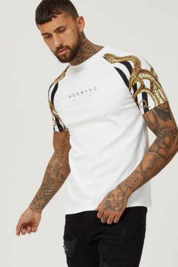 Hermano - Snake T-Shirt - White