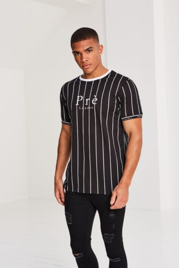 Pré London - Power Pinstripe T-Shirt - Black