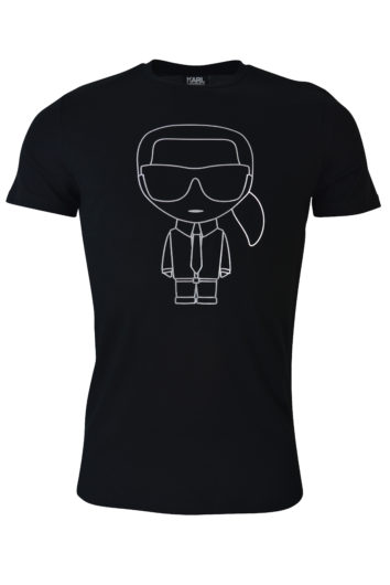 Karl Lagerfeld - Foil Outline T-Shirt - Black