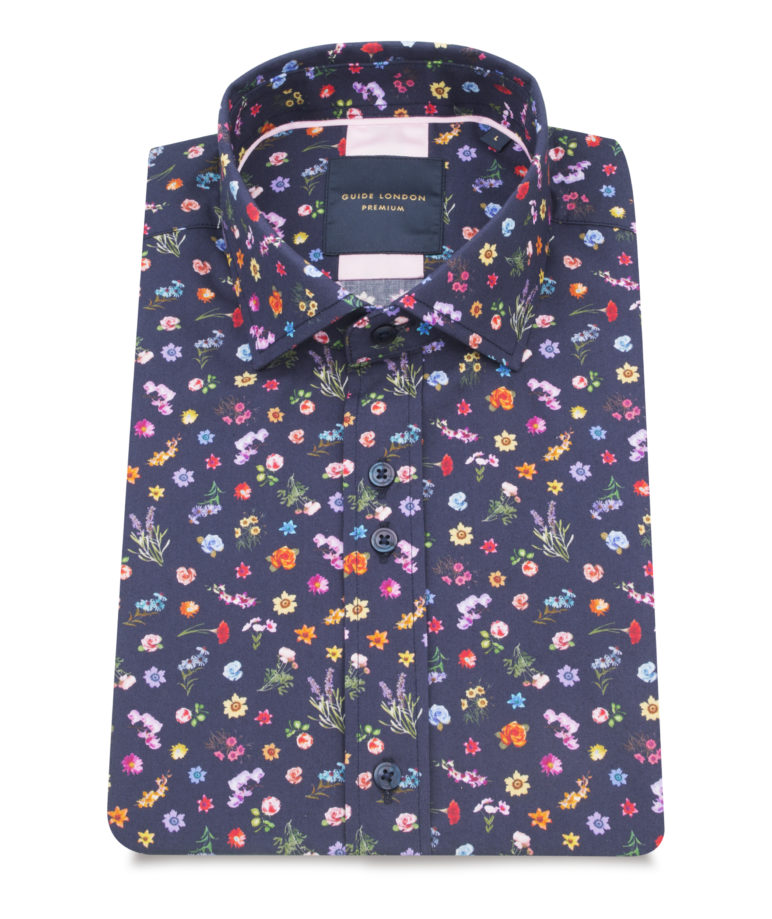 Guide London - Half Sleeve Shirt 2357 - Navy