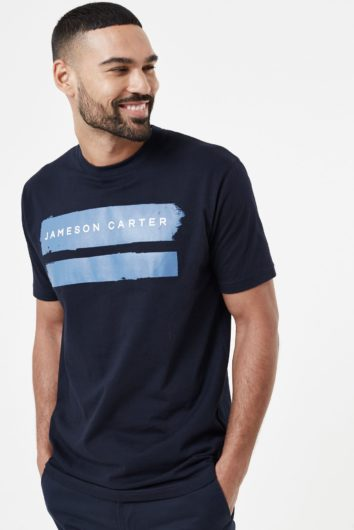 Jameson Carter - Paint Stripe T-Shirt - Blue