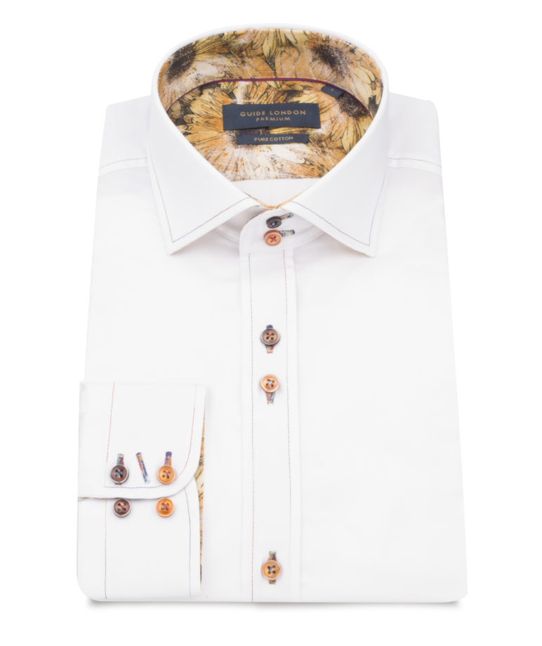 Guide London - Long Sleeve Shirt 75051 - White