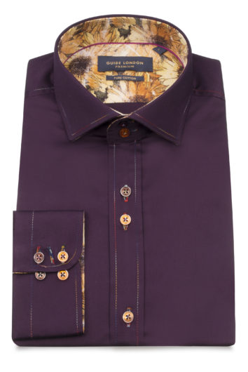 Guide London - Long Sleeve Shirt - Plum