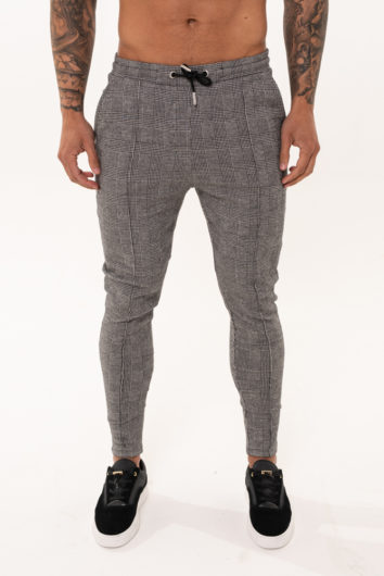 Nimes - Check Chino Trouser - Grey