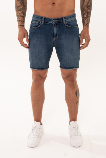 Nimes - Non Rip Denim Shorts - Dark Blue