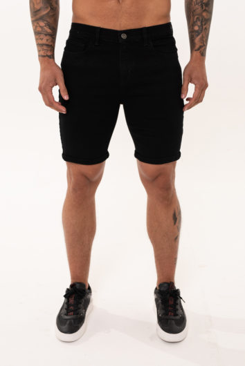 Nimes - Non Rip Denim Shorts - Black