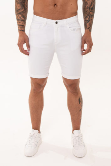 Nimes - Non Rip Denim Shorts - White