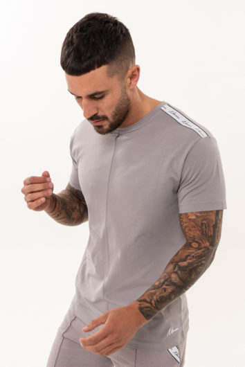 Nimes - Signature Tape T-Shirt - Grey