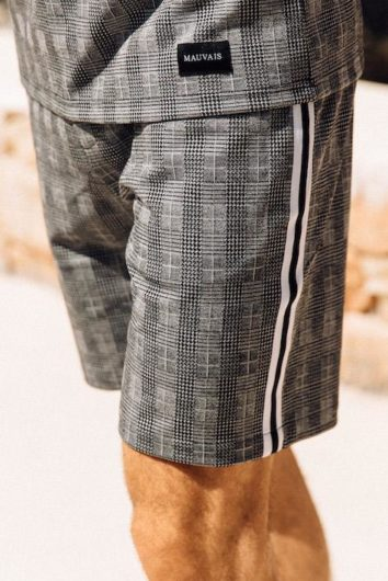 Mauvais - Check Taped Shorts - Grey