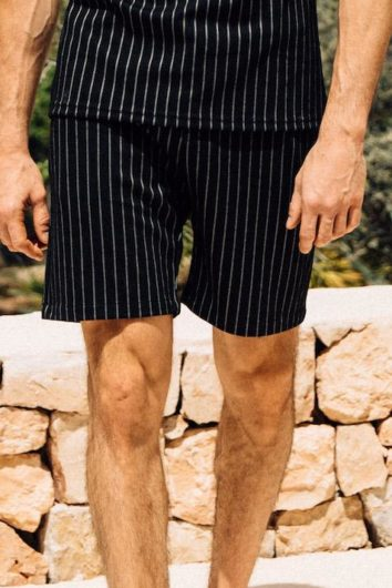 Mauvais - Pinstripe Shorts - Black and White