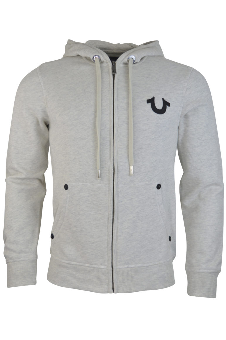 True Religion - Buddha LS Zip Hood - Heather