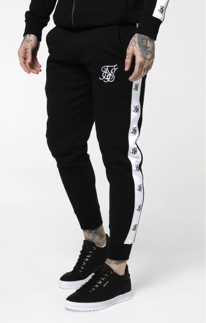 Sik Silk – Muscle Fit Jogger – Black