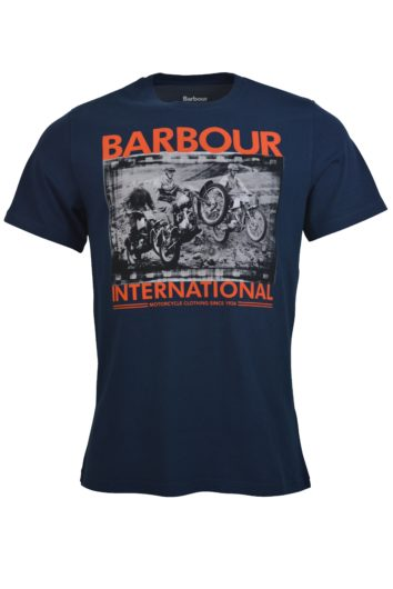Barbour International - Biker T-Shirt - Navy