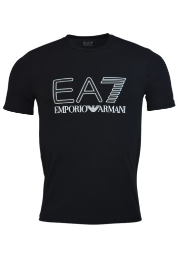 EA7 - 6GPT14 Large Logo T-Shirt - Black