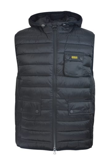 Barbour International - Ousten Hooded Gilet - Balck