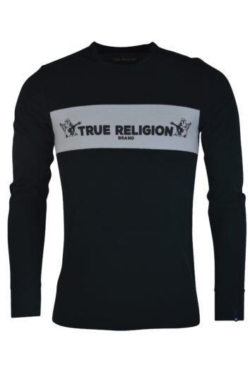 True Religion - LS TR Crew T-Shirt - Black