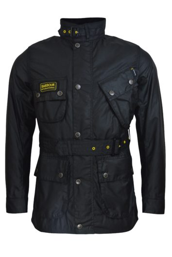 Barbour International - Slim Int Wax Jacket - Black