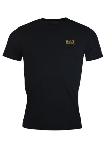 EA7 - 8NPT51 Small Logo T-Shirt - Black/Gold