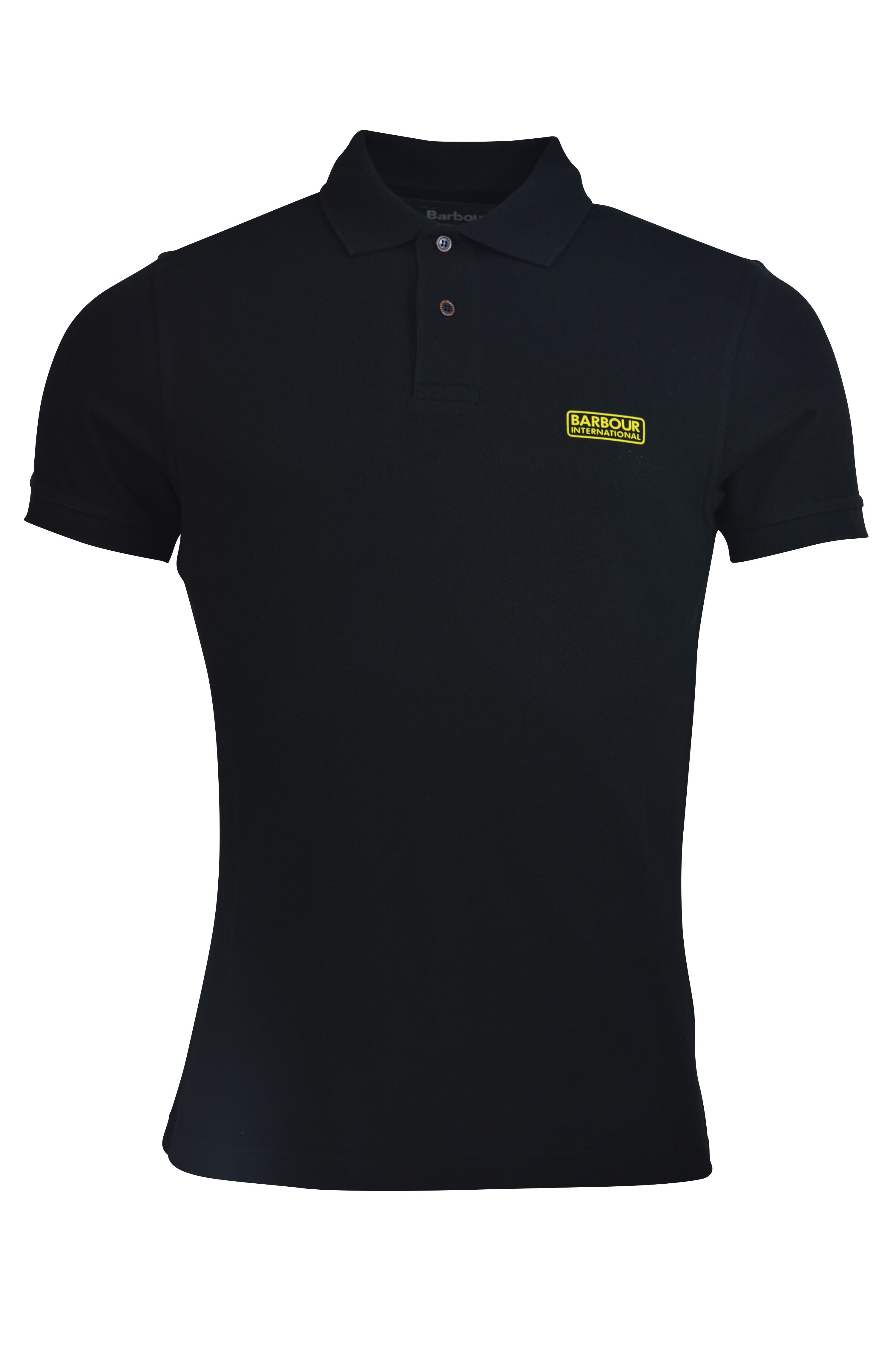 Barbour International – Tipped Polo – Black