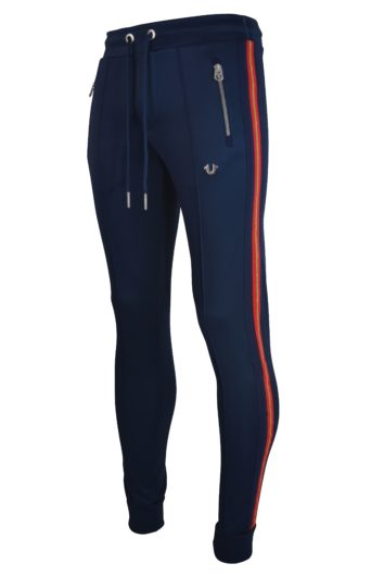 True Religion - 4142 Stripe Poly Jogger - Navy