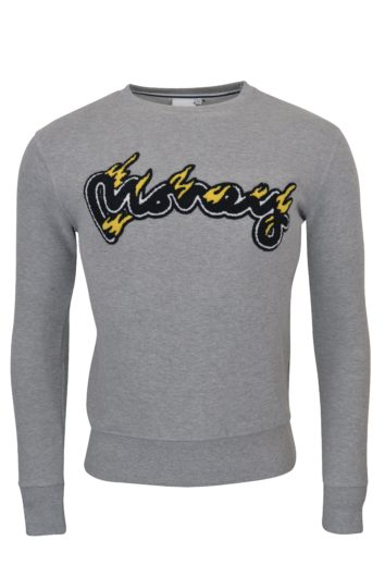 Money Clothing - Pastel Flames Sweatshirt - Grey