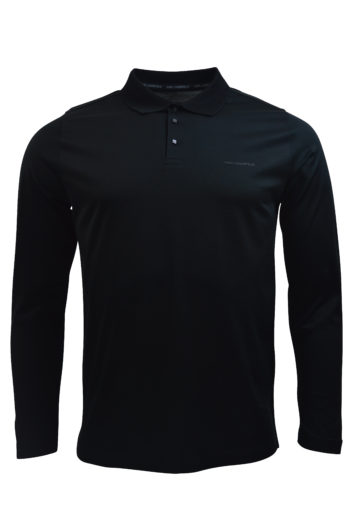 Karl Lagerfeld - 755000 Long Sleeve Polo - Black