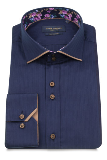 Guide London - LS75126 Shirt - Navy