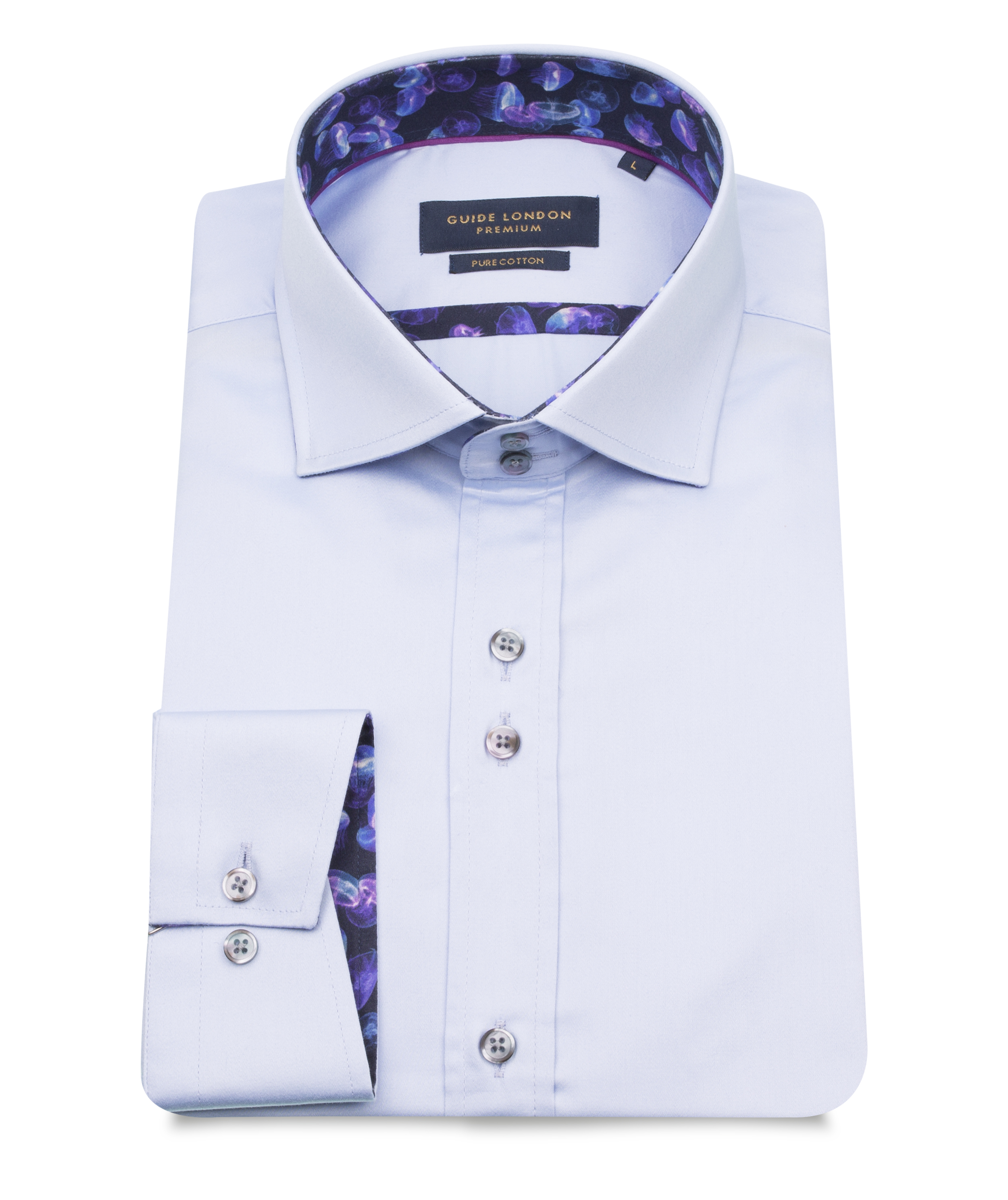 Guide London – LS75303 Shirt – Sky
