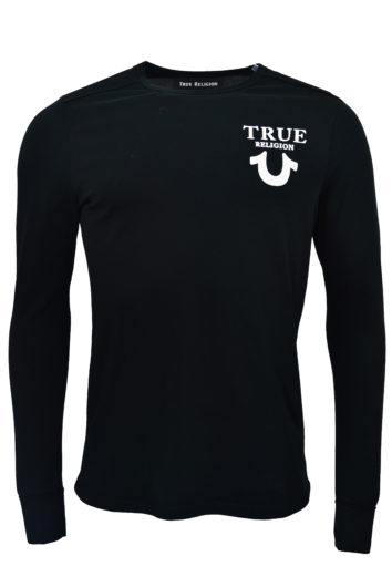 True Religion - Long Sleeve Logo - Black