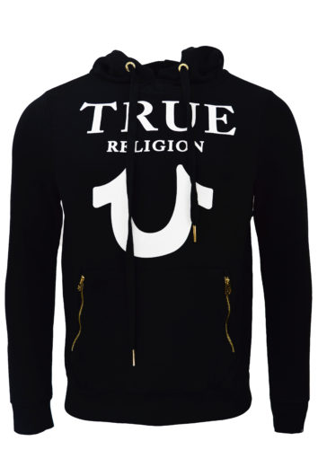 True Religion - Hoodie Logo Puffy - Black