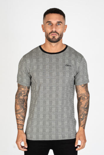 Nimes - Check T-Shirt - Grey