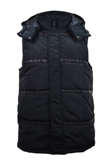 True Religion - Tape Puffer Vest - Black