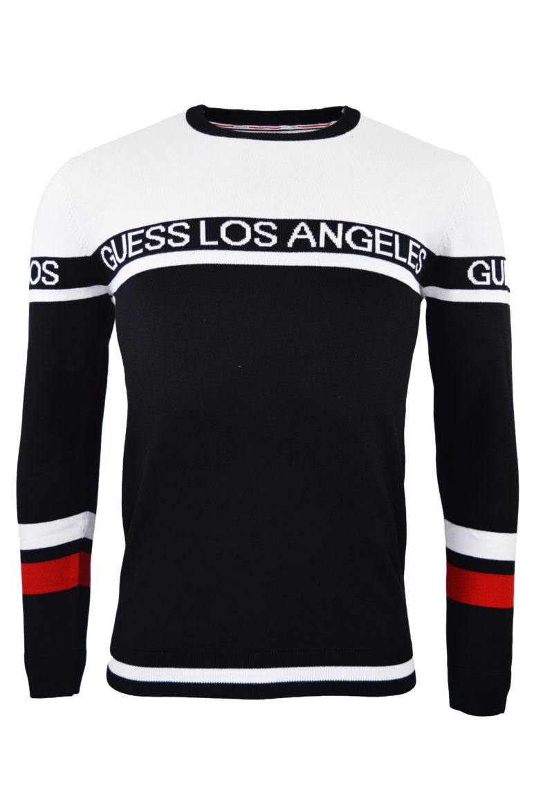 Guess - Browns Knit Sweatshirt - Black/White