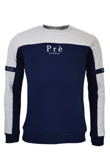 Pre London - Eclipse Sweatshirt - Grey/Navy